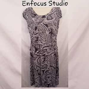 Enfocus Studio Ladies Black and White Dress